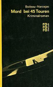 Boilieau Narcejac Mord 45 Touren Cover klein